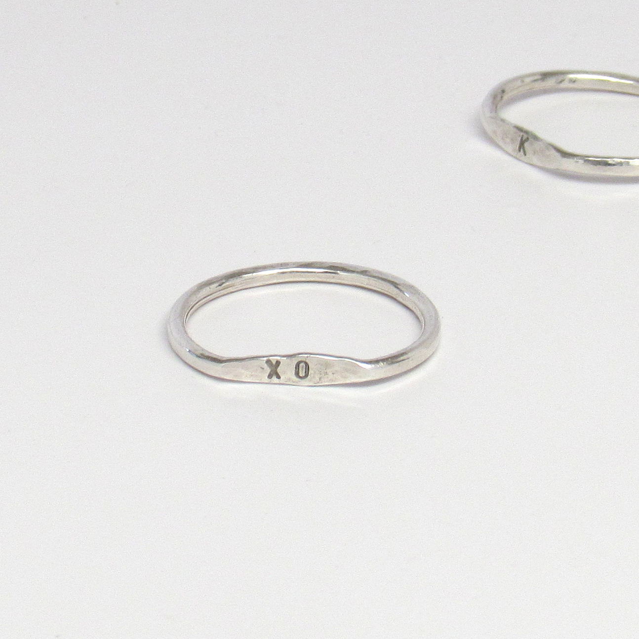 Personalized hammered rings